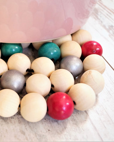 dessous de plats en perles